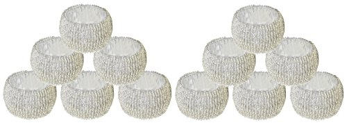 SKAVIJ Silver Napkin Rings Set of 12 Round for Weddings Dinner Parties or Every Day Use by SKAVIJ (Image #4)