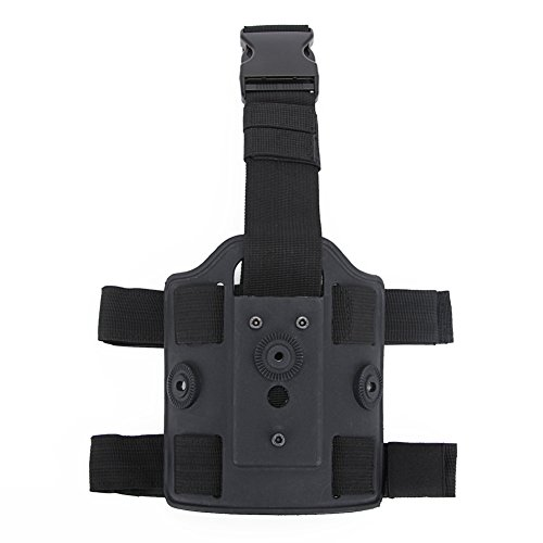 LANZON Airsoft Drop Leg Platform, Tactical Thigh Mount Rig Platform, Drop Leg Holster Panel (Drop Leg Platform - Black) (Best Drop Leg Platform)