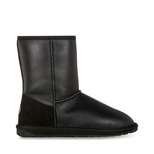 EMU Australia Womens Townsend Winter Real Sheepskin Boots Size 9 Black/Charcoal (Emu Bronte High Boots)