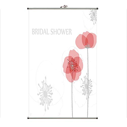 iPrint Wall Hanging Picture Wall Scroll Poster Fabric Painting,Poppy Flower Buds Abstract Shadow Design Image,3D Print Design Personality Customization Make Your Room unique23.6 X35.4