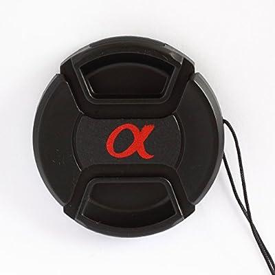 Tapa Delantera 55mm con cordón y Pinza Central para Objetivo Sony ...