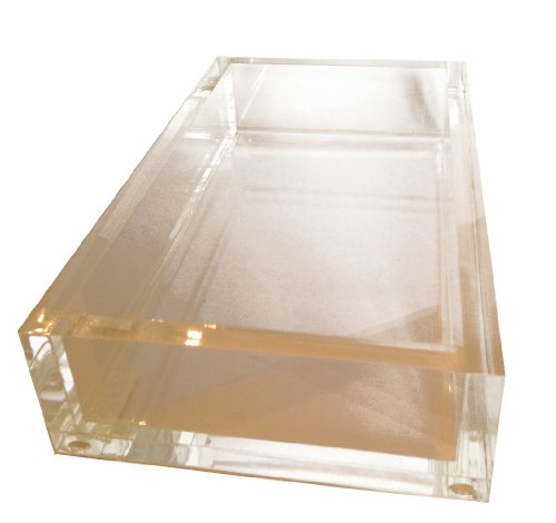 Entertaining with Caspari 1 Count Acrylic Guest Towel Napkin Holder (Caspari Guest Towel Napkins)