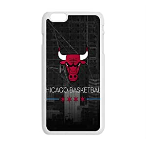 Chicago Bulls NBA White Phone Case for iPhone plus 6 Case