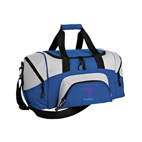 ebef232b3be3 Gymnastics Personalized - Colorblock Sport Large Duffle Bag (True  Royal Grey)