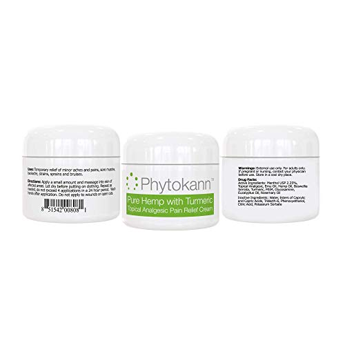 Hemp Pain Relief Cream - Maximum Relief for Arthritis Pain, Back Pain,  Inflammation, and Muscle Soreness  Made in USA with Hemp Oil & Hemp  Extract,