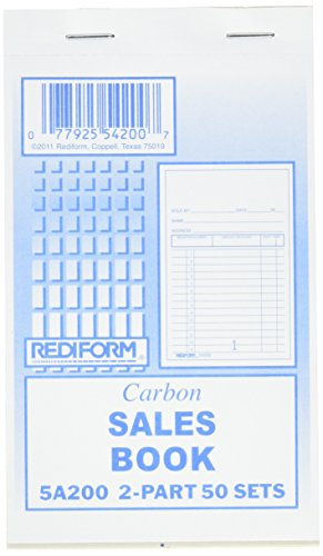 Rediform Sales Order Book, Carbon, 2 Part, 3.375 x 5 Inches, 50 Forms (5A200) - Rediform Sales Receipt Book