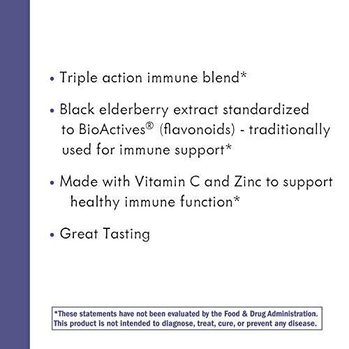 Nature's Way Sambucus Elderberry Gummies, Herbal Supplements with Vitamin C and Zinc, Gluten Free, Vegetarian, 60 Gummies by Sambucus (Image #6)