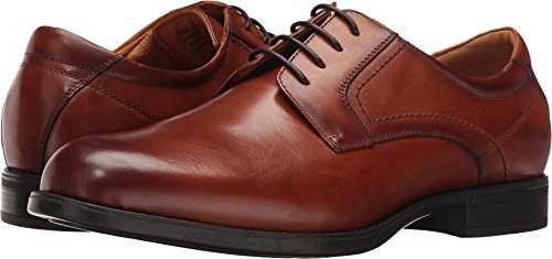 Florsheim Men's Midtown Plain Toe Oxford Cognac Smooth 12 EEE US