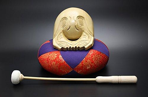 京仏壇はやし 仏具 木魚セット 【 本楠 並彫 】 5寸 B00N0DKDKG5.0寸