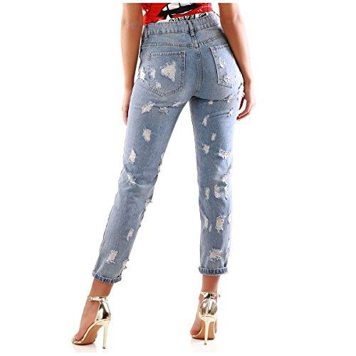 Clair Coupe Boyfriend Modeuse La Destroy Bleu et Jeans Taille dlav Haute anPqA
