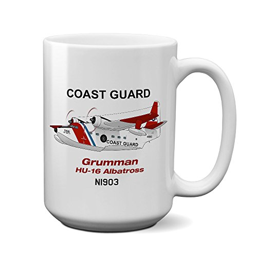 (Grumman HU-16 Albatross (Red/Blue) Airplane Ceramic Mug - Personalized w/ N#)