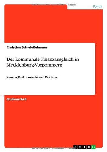 Download Der kommunale Finanzausgleich in Mecklenburg-Vorpommern (German Edition) ebook