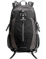 CAMEL CROWN Wanderrucksack 50L Reiserucksack Leichte Reiserucksäcke Wasserdichte Rucksack mit Regenschutz für Männer Frauen Outdoor-Walking