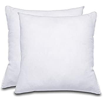 decorative pillow insert pack of 2 white square 18x18 sofa and bed