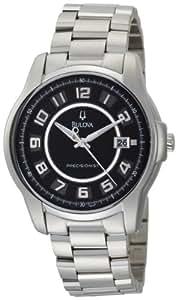 Bulova Men's 96B129 Precisionist Claremont Black Stainless Steel Watch