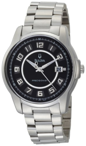 Bulova Men's 96B129 Precisionist Claremont Black Stainless Steel Watch