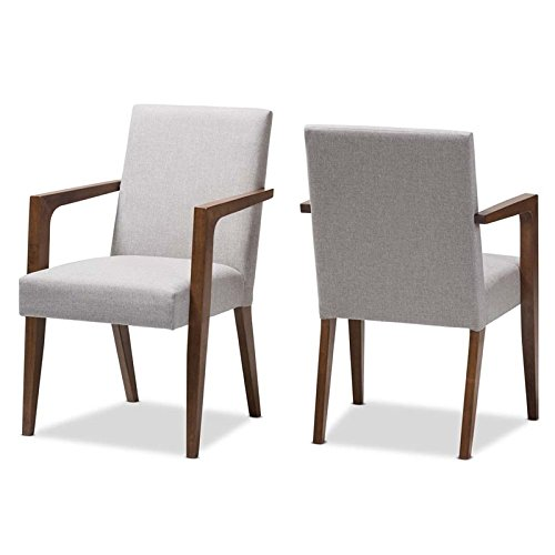 andrea upholstered arm chair gray