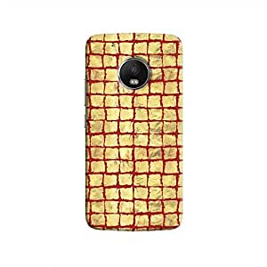 Cover It Up - Gold Red Break Mosaic Moto G5 Hard Case