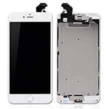 """Rabbitstorm® Pre-assembled Replacement Touch Screen Digitizer + LCD Display & LCD Shield Plate + Spares Parts (Front Camera + Home Button + Earpiece Speaker) for iPhone 6 Plus 5.5"""" (White)"""