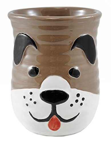 Puppy Dog Cozy Hand Coffee Mug in Brown - 18 ()