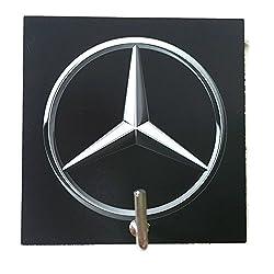 Agility Bathroom Wall Hanger Hat Bag Key Adhesive Wood Hook Vintage Mercides - Benz Logo's Photo