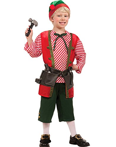 [Forum Toy Maker Santa Claus Elf Helper Childs Christmas Costume Large] (Childrens Santas Helper Costume)