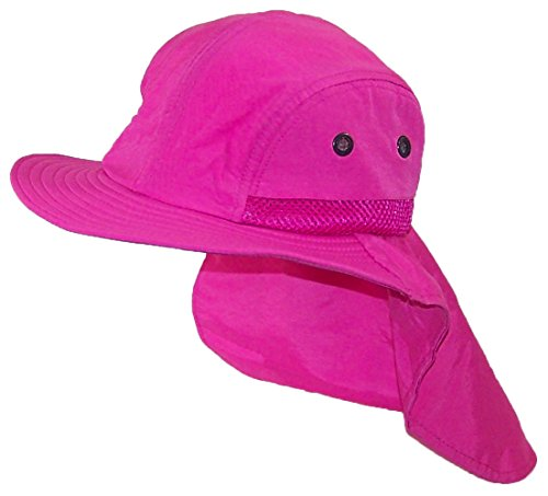 Tropic Hats Kid/Child Wide Brim Mesh Summer Hat With Neck Flap (One Size) - Hot - Apparel Running Australia