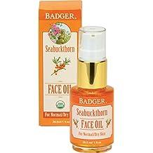Badger Seabuckthorn Face Oil - 1 fl oz Glass Bottle