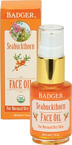 Badger Seabuckthorn Face Oil - 1 fl oz Glass Bottle