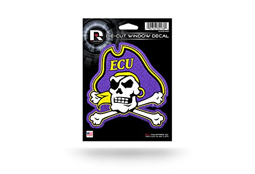 Rico Industries NCAA East Carolina Pirates Bling Die Cut Window Decal with Glitter Accent