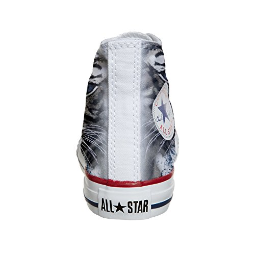 artisanal Coutume Customized avec Chaussures produit blanc tigre Converse zqRwAIxnw
