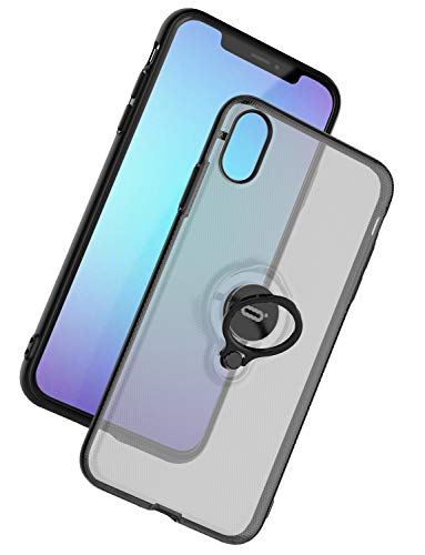 ICONFLANG for iPhone XS/X Case, Ultra-Slim iPhone XS Case with Ring Holder Stand Compatible Magnetic Car Mount Cover Case for Apple iPhone XS (2018) iPhone X (2017) 5.8 inch – Translucent