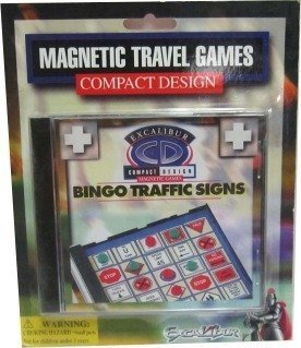- Portable Magnetic Travel Bingo Traffic Signs Game in a CD Case by Excalibur