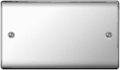 BG Electrical Double Blank Plate Polished Chrome
