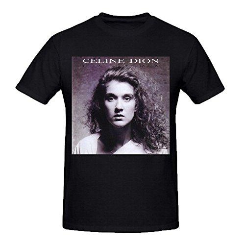 Celine Dion Unison Comfot Round Neck T Shirt For Men Black