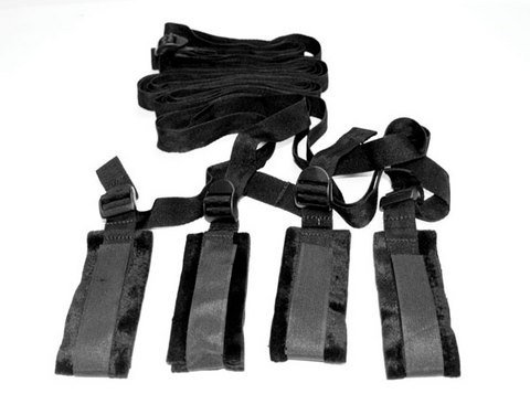 Gift Set Of Sex and Mischief Bed Bondage Restraint Kit And one package of Tro... by Sportsheets International Inc