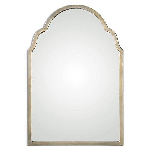Uttermost' Brayden Champagne Silver 30x20 Inch Arch Mirror - - Champagne Uttermost