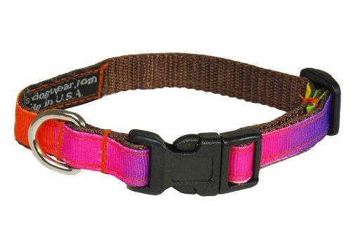 Sassy Dog Wear 6-12-Inch Rainbow Dog Collar, X-Small