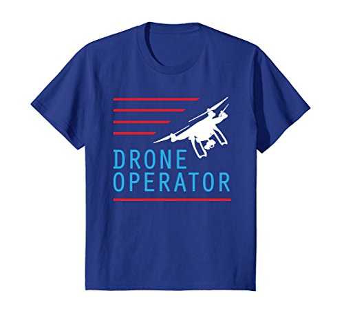 Price comparison product image Kids Red line Drone Operator T-shirt 6 Royal Blue
