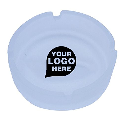 CloseoutPromo Frosted Ashtray - 12 Quantity - $12.40 Each - PROMOTIONAL PRODUCT/BULK/BRANDED with YOUR - Imprinted Glass Frosted