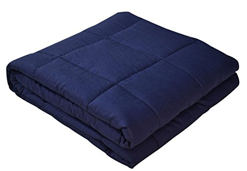 Premium Weighted Blanket for Kids, Gravity Blanket, Great for Sensory Processing Disorder, Navy 36
