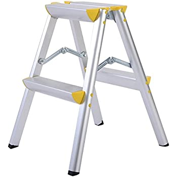 Delxo Lightweight Aluminum 2 Step Ladder Rv Ladder Step