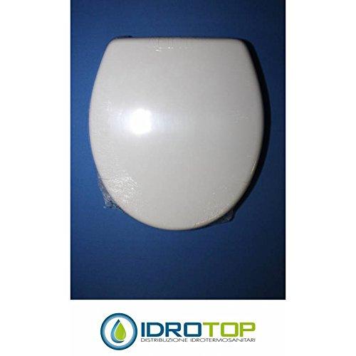 ACB//COLBAM Copriwater in Legno Rivestito di Poliestere per Catalano Zero Light Bianco Cromo-Sedile-ASSE WC