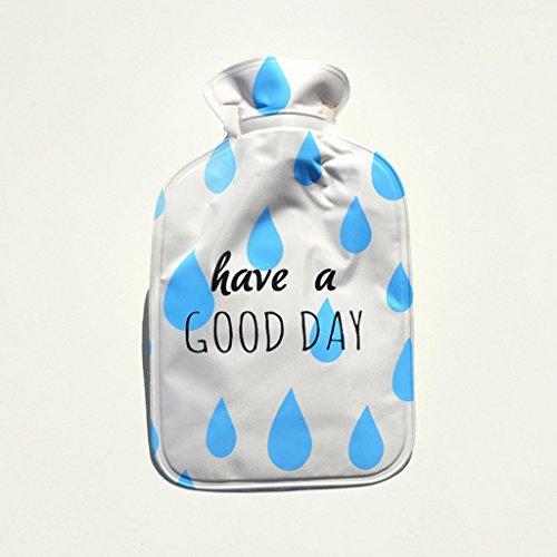 Mignon bande dessinée pvc main chauffe mini trompette bouteille d'eau chaude anti-brûlure preuve bouteille d'eau chaude