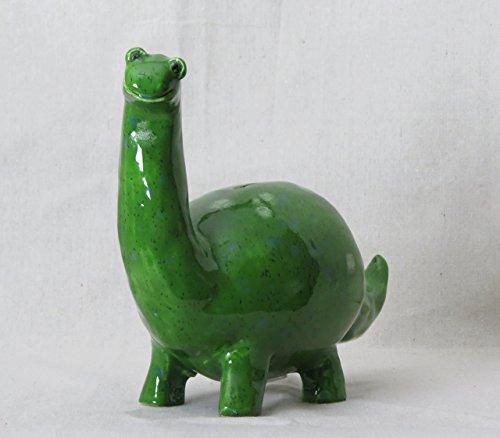 Dinosaur Happy Green Brontosaurus Coin Bank (B105)