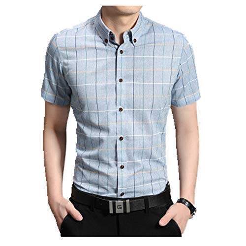 NOBRAND Camisa de negocios de manga corta para hombre de manga corta para hombre
