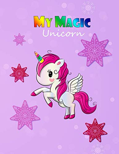 (My Magic Unicorn: Full Color Storyboard For Drawing Or Use As Sticker book, Scrapbooking, Unicorn Theme, Dimension 8.5x11