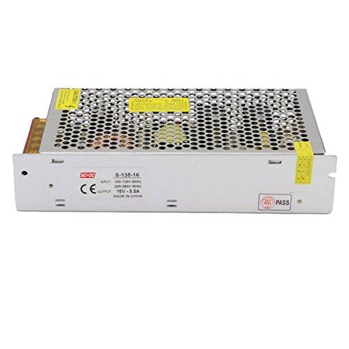 Foyoram 110V/220V AC-DC 16V 8.5A 135W Universal Regulated Transformer Switching Power Supply Driver Converter Power Transformer for LED Strip Light CCTV Radio Computer Project by Foyoram (Image #2)