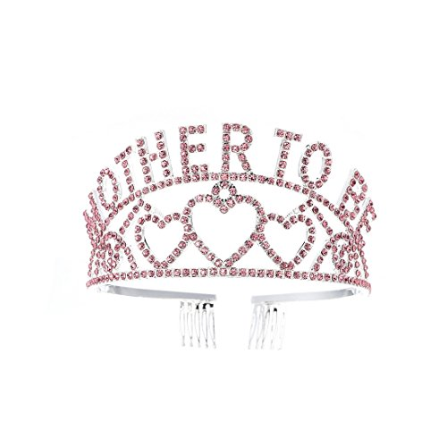 FF Pink Rhinestone Mother to Be Crown Baby Shower Mom's Headpiece ()