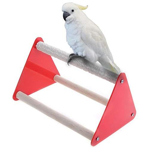 Bird Toys - Pet Parrot Stand Grinder Claw Rubber Bird Toys Ladder Acrylic Standing Chewing Rack 18 5x11x11cm - Nest Halloween Maracas Tube Guitar Make Diy Add Ladder Net